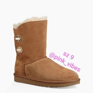NEW UGG Sz 9 Chestnut Turnlock Boots